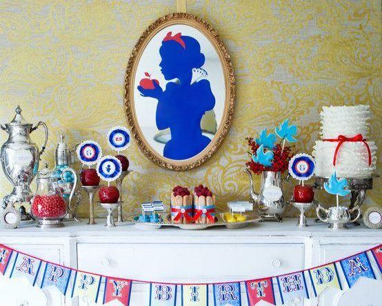 Festa Branca de Neve: 60 ideias de decoração e fotos do tema