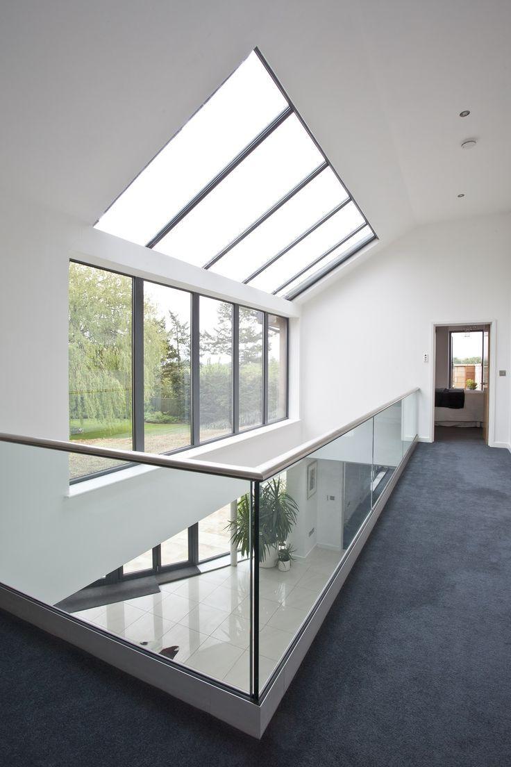 A sensação de ático pode ser apresentada através do telhado de vidro