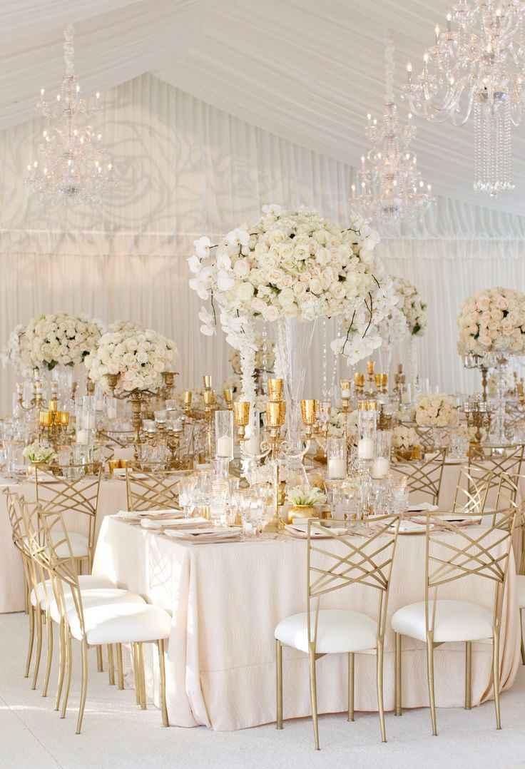 Decoração de casamento luxuoso.