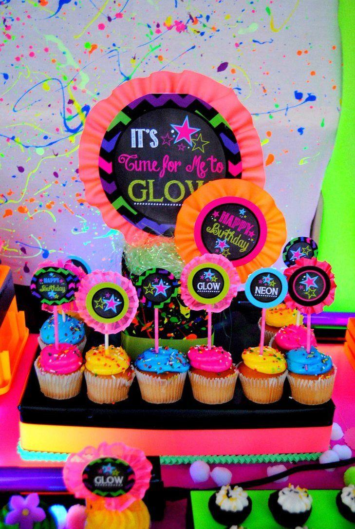 Festa neon colorido