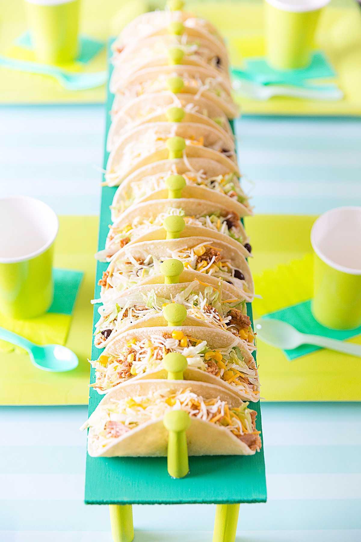 Comida para festa Neon: tacos