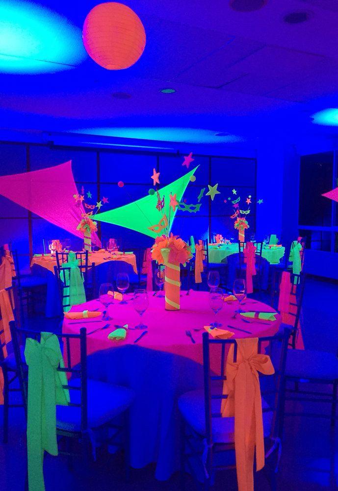 Festa neon bem colorido