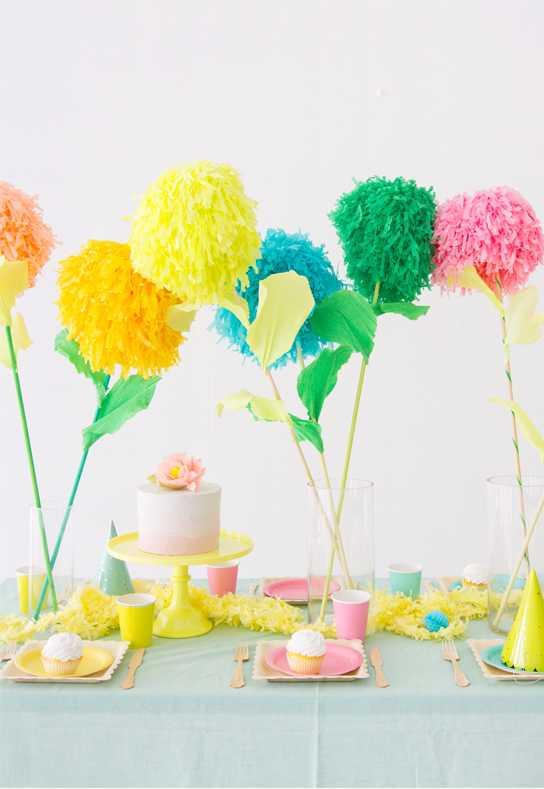 Festa Neon: flores na cabeça