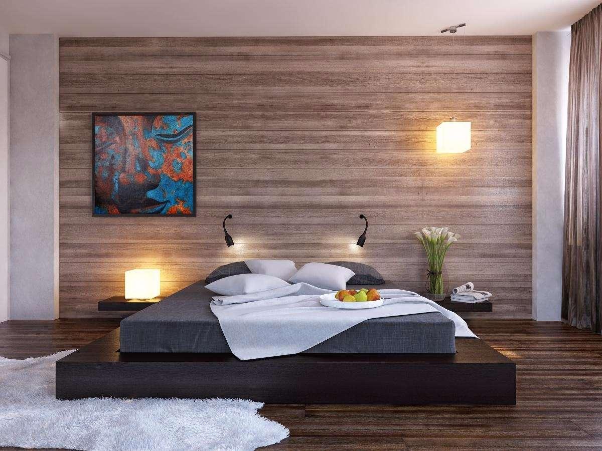 Escolha tons mais claros do material para ter um efeito visual suave na decoração do quarto.