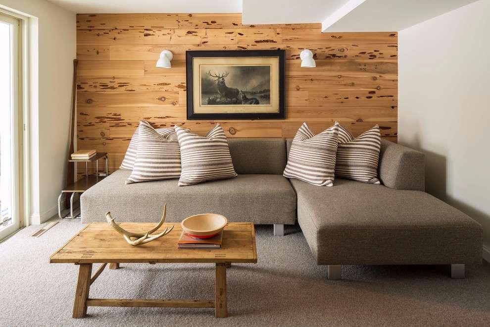 Traga toda a rusticidade e os detalhes da madeira para a sua sala de estar.