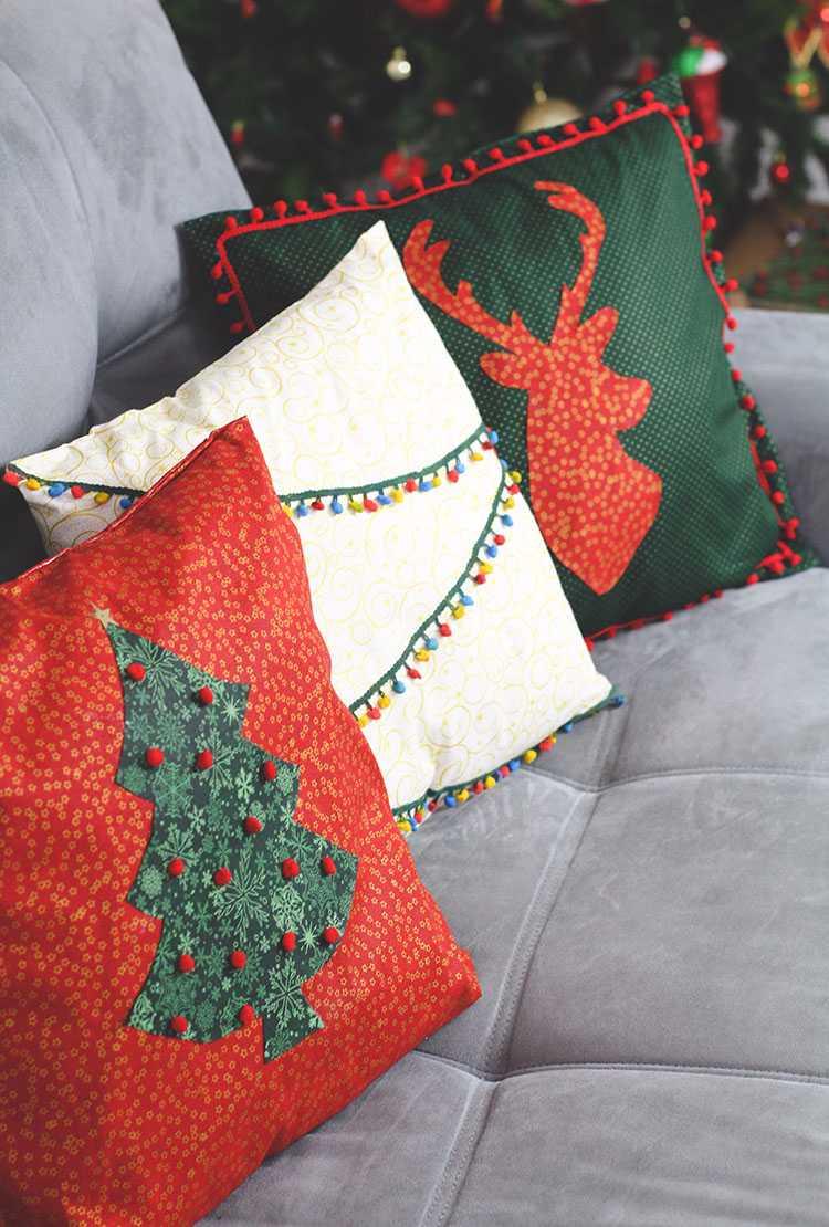 d58d1227d Almofadas de Natal  60 Ideias de Decoração e Como Fazer