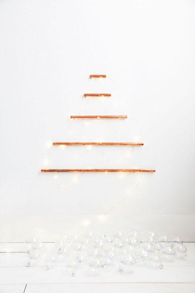 Árvore de Natal desconstruída e minimalista
