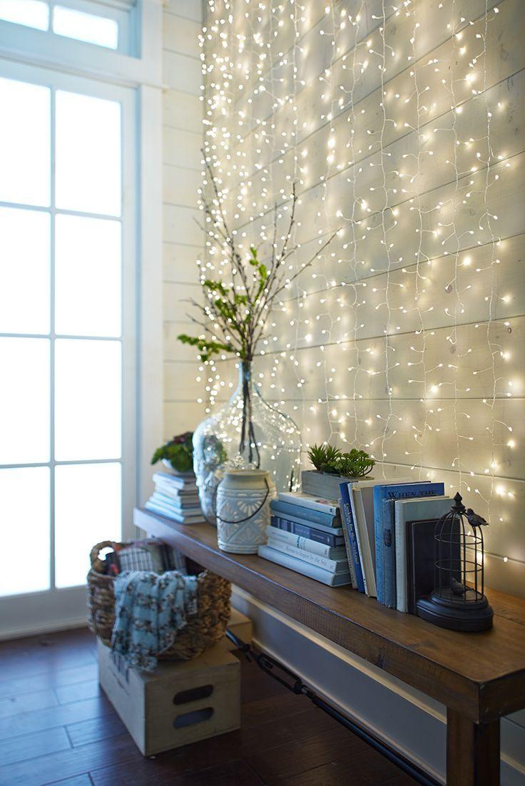 Luz de pisca pisca na parede