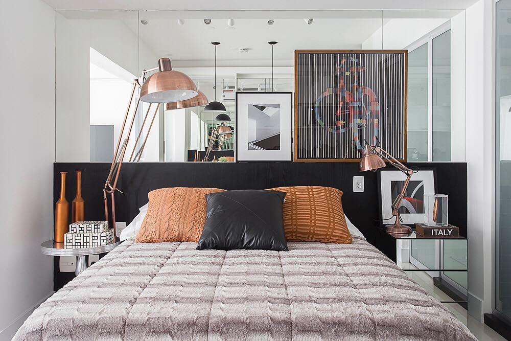 Combinação de cores modernas para o quarto de casal