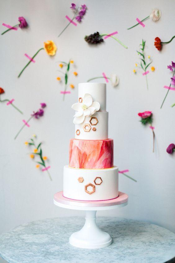 Efeitos visuais surpreendentes no bolo