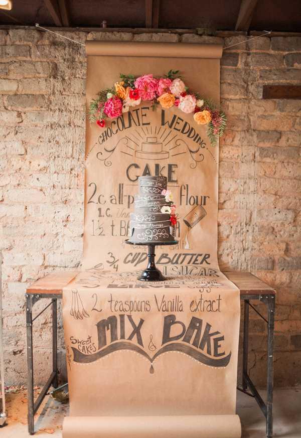 Bolo chalkboard para noivado