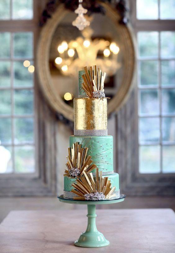 Elegância contemporânea na decoração do bolo
