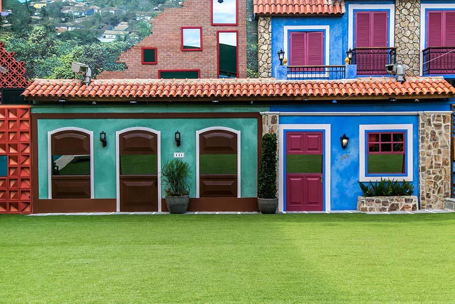 Contraste de cores em casas coloniais