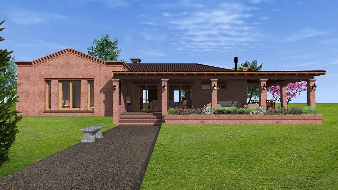 Casa com construção de tijolos