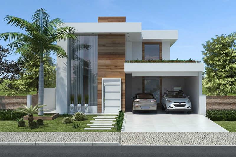 Casas grandes 54 projetos fotos e plantas para se inspirar for Casa moderna 80m2