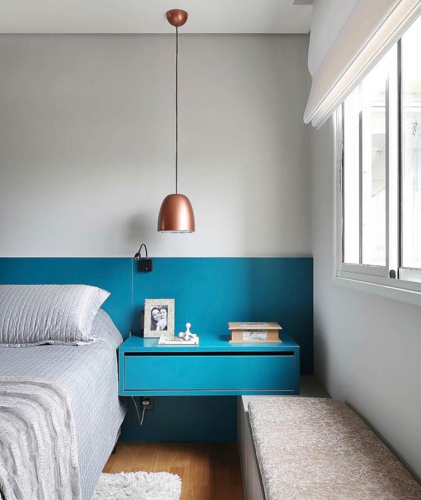 Azul turquesa 60 ideias e fotos de decora o com a cor - Azul turquesa pared ...