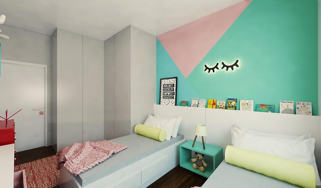Acrescente a cor em um quarto compartilhado