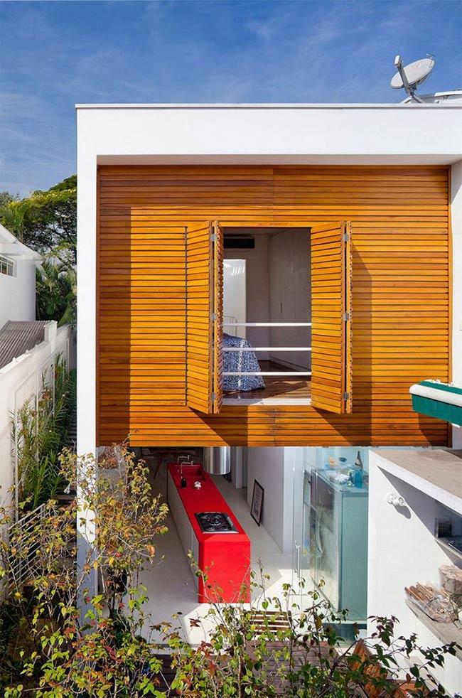 Solução simples para a janela e fachada