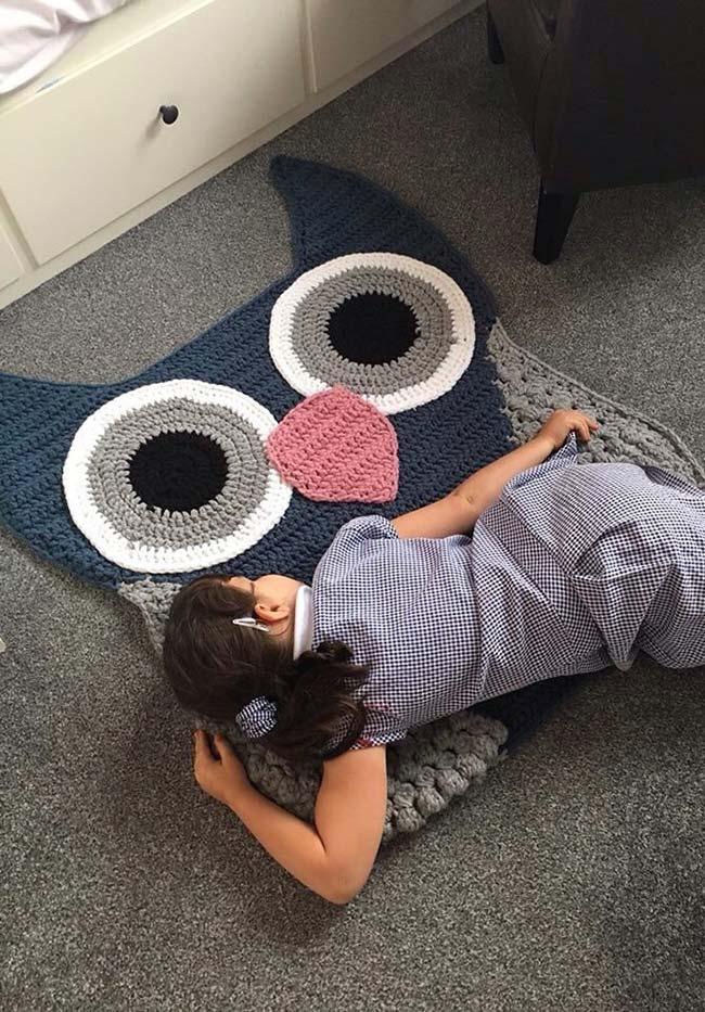 Um modelo de tapete super fofo para as crianças