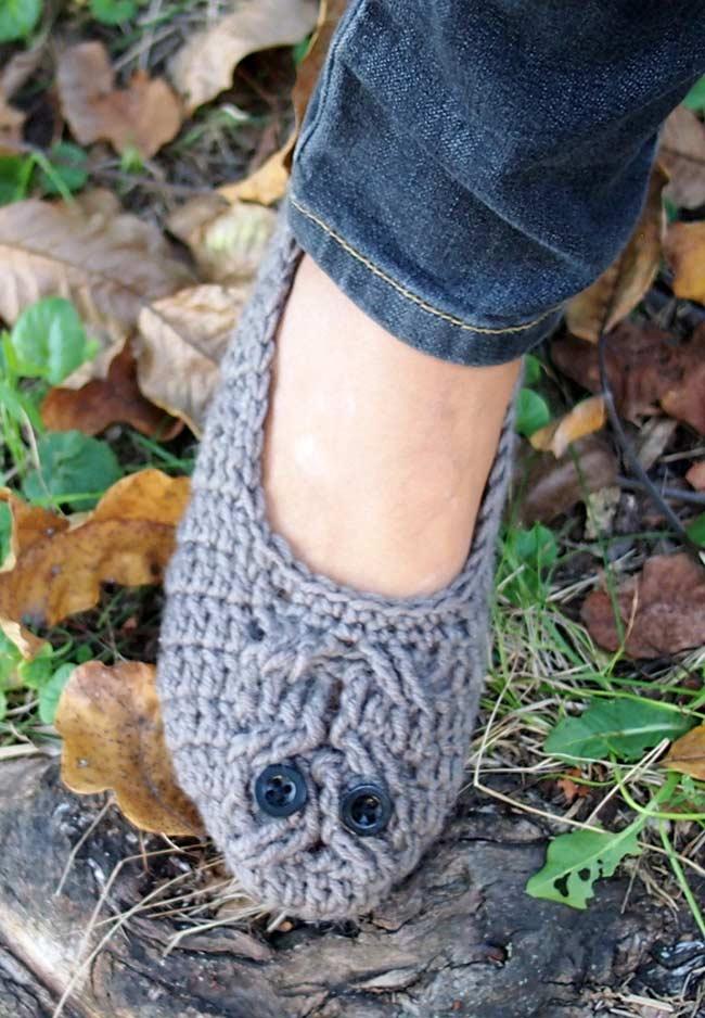 Sapatilha homemade de crochê