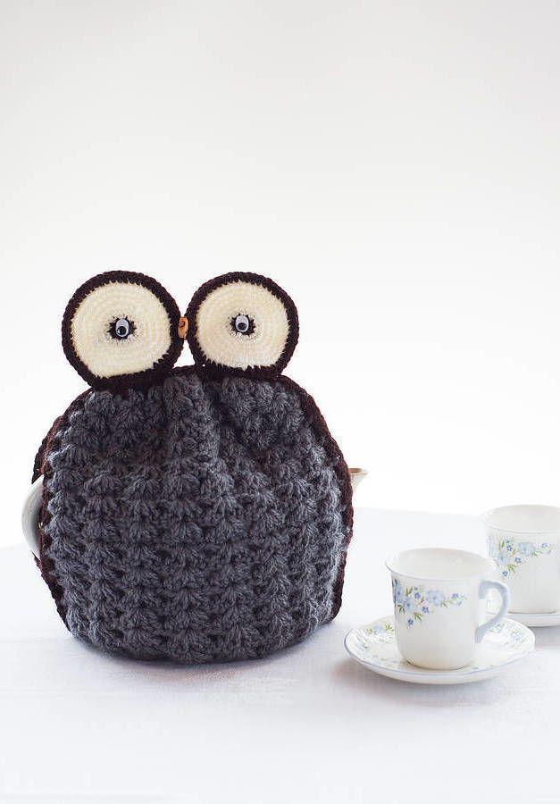 Proteção para bule de chá de bebê em crochê