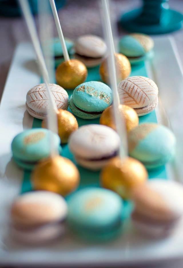 Macarons com padrões especiais