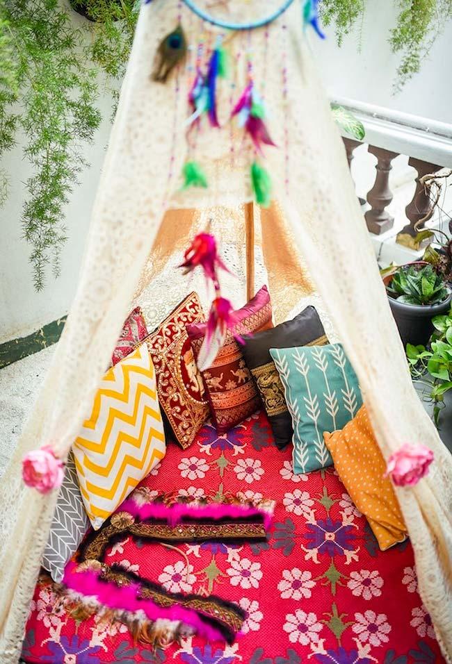 Crie uma tenda de descanso em sua festa