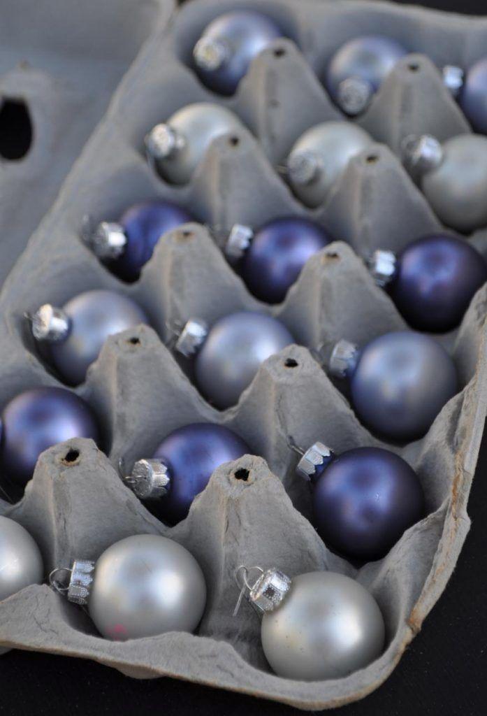 Use a caixinha para guardar as bolas de Natal