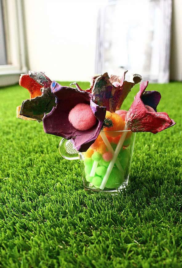 Flores com cores diferentes