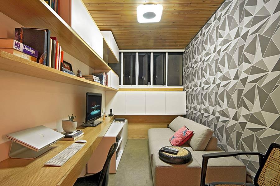 Papel de parede para uma sala simples