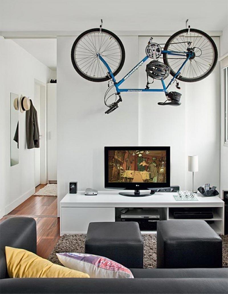 Utilize a bicicleta na decoração do ambiente