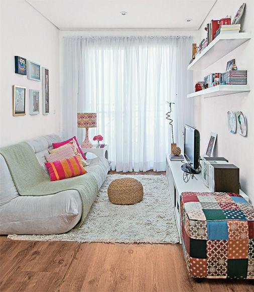 Sala com cortina voil