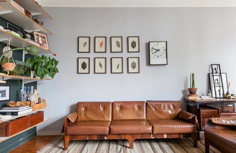 Decoração de sala simples com um toque de personalidade