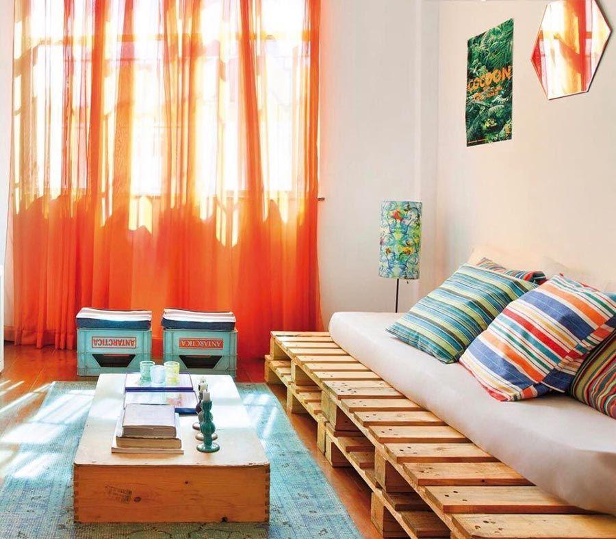 Outra opção econômica: sofá de paletes
