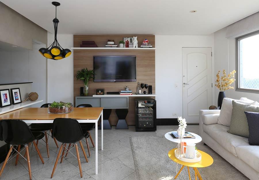 Sala Simples 60 Ideias para a Decoraç u00e3o mais Bonita e Barata -> Decoração De Interiores Salas Simples