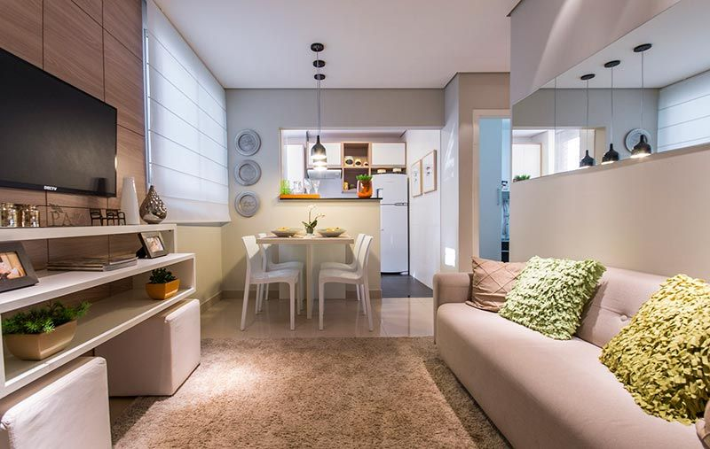 Sala integrada e simples