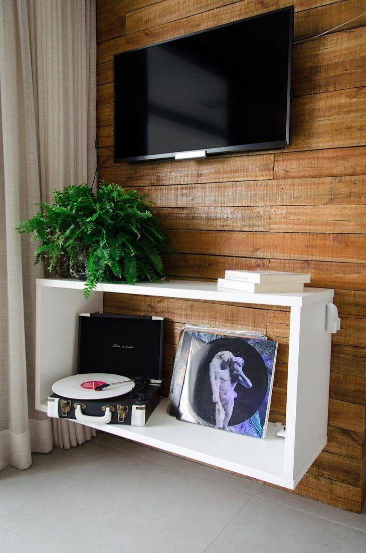 Mescla da madeira com um móvel mais moderno