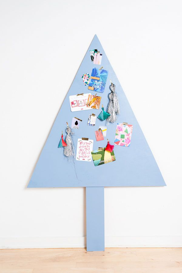 Árvore de Natal de papel artesanal