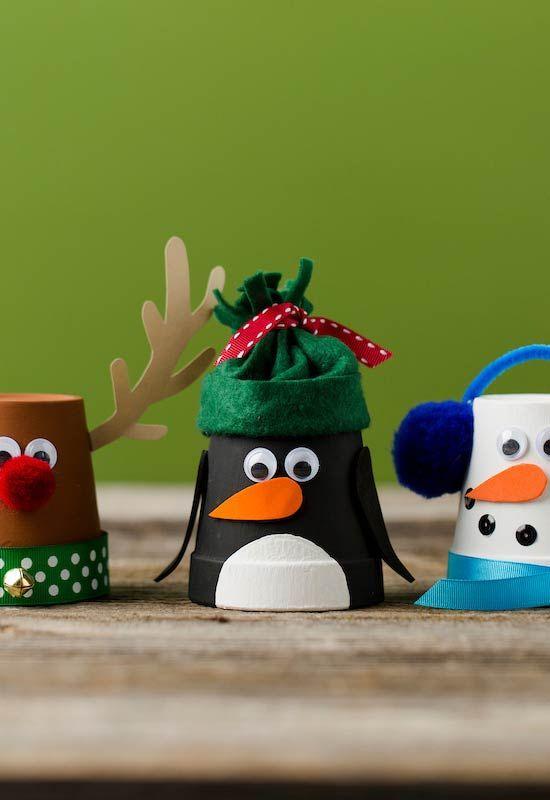 Personagens natalinos como enfeites artesanais
