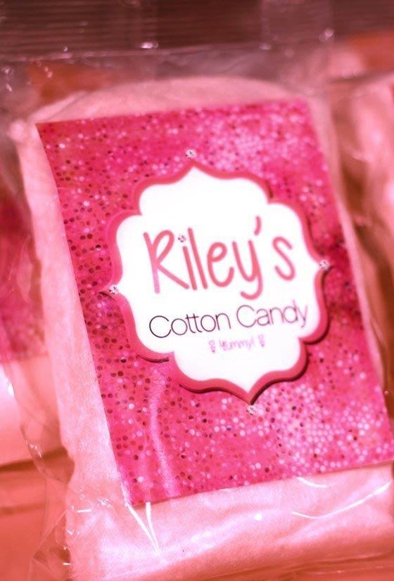 Algodão doce cor-de-rosa.