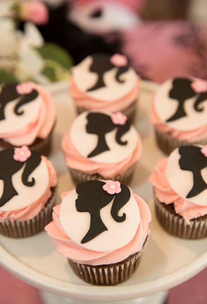 Topos comestíveis no cupcake