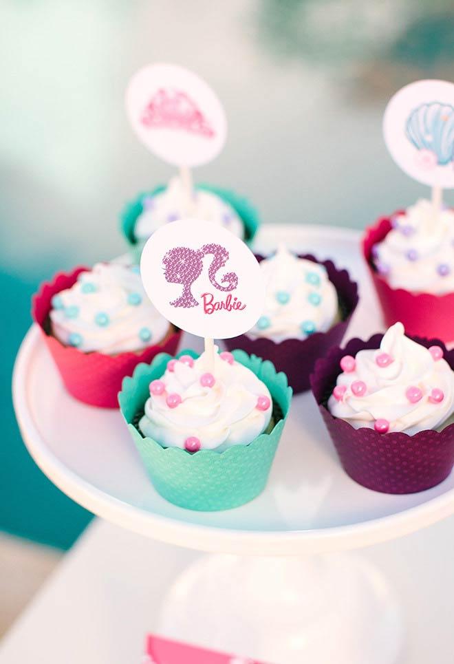 Plaquinha comestível no cupcake