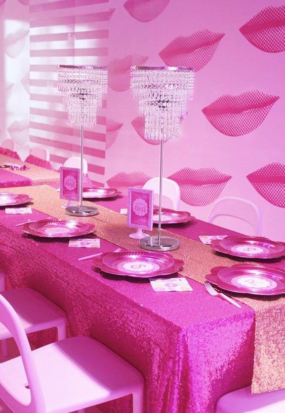 Luminárias como centro de mesa