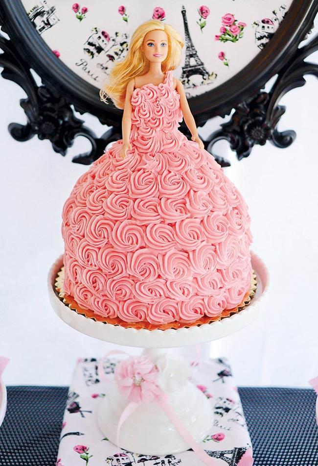 Detalhes da saia bolo