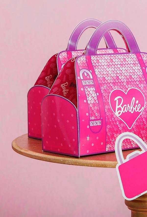 Caixa-bolsa surpresa da Barbie
