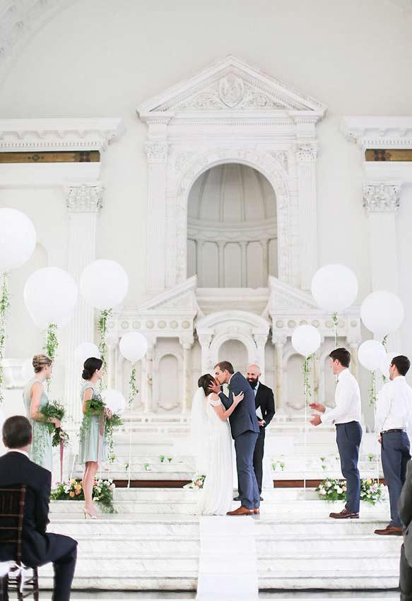 Casamento branco: destaque para a cor clara