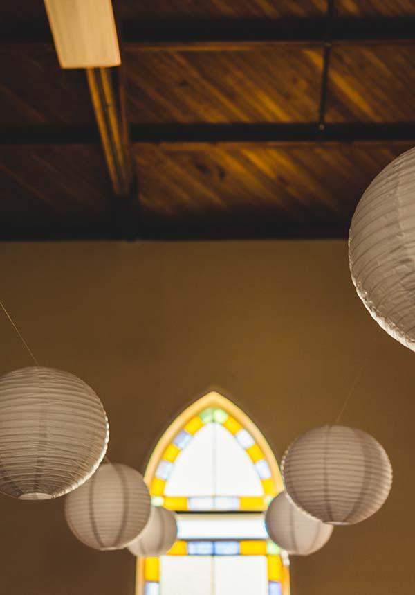 Lanternas de papel para um ambiente agradável