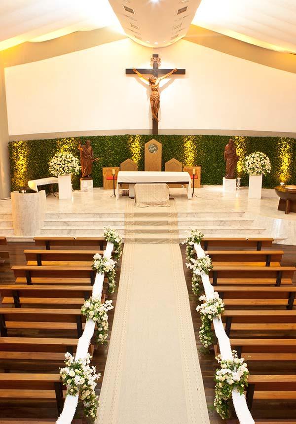 Decoraç u00e3o de Igreja para Casamento 60 Dicas com Fotos e Ideias -> Fotos Decoração De Igreja Para Casamento Simples