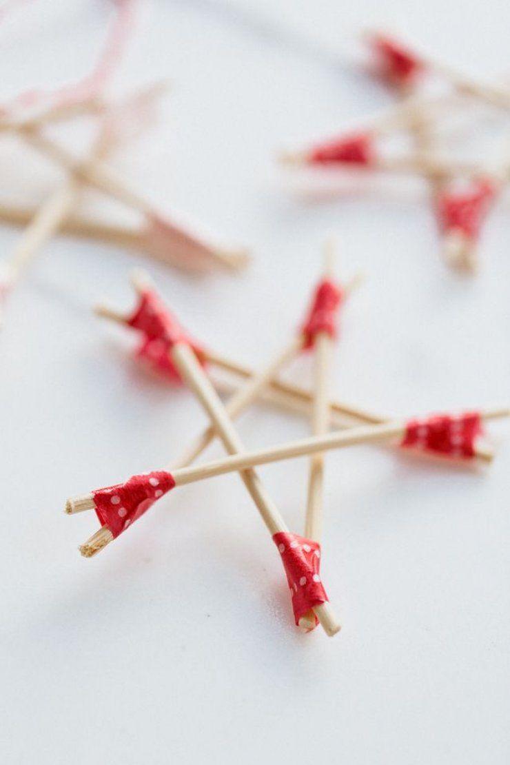 Estrela natalina feita com palitos de dente