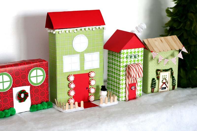 Caixas para montar um cenário natalino